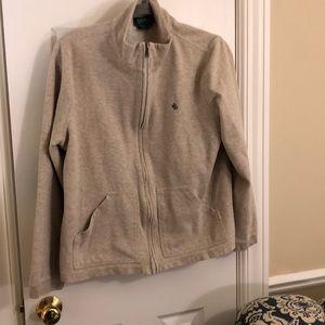 Ralph Lauren tan fleece with elbow pads - XL